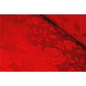 Floral Satin Brocade Red