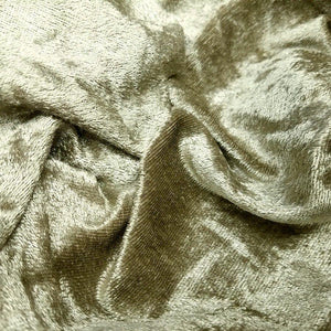Crushed Panne Velour Velvet Taupe