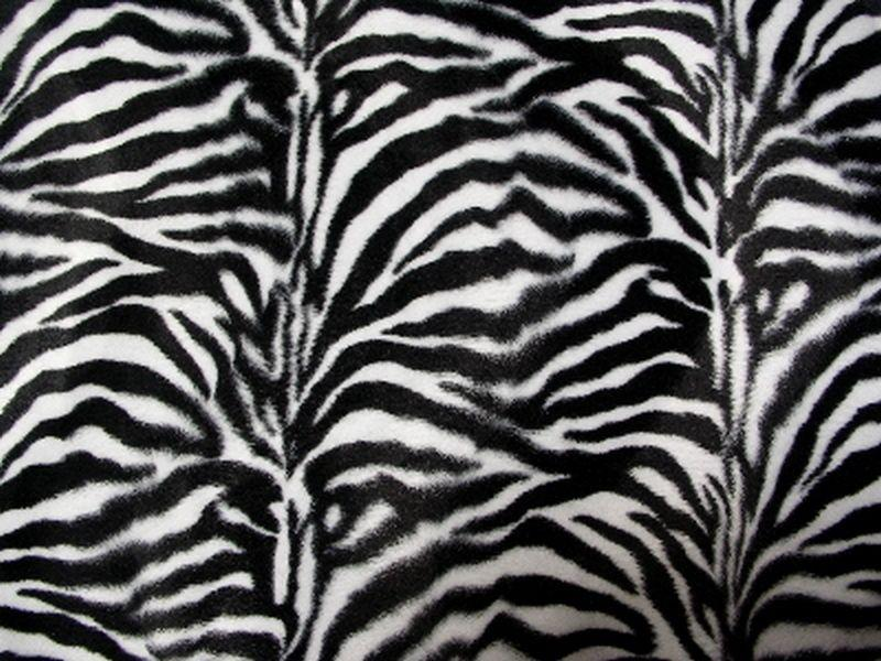 Velboa Small Black White Zebra Prints