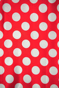 Polka Dot Charmeuse Satin RED WHITE SP-107