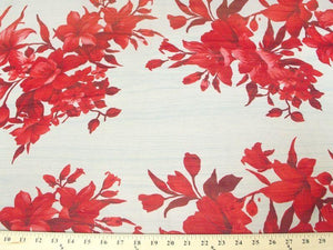 Printed Chiffon RED FLORAL
