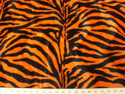 Velboa Large Orange Black Zebra Prints