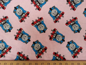 Pink Thomas Train Flannel