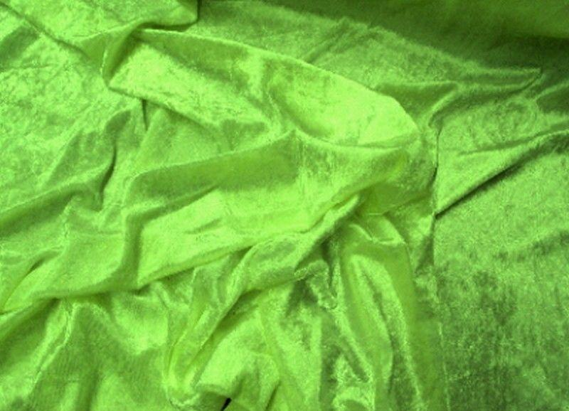 Crushed Panne Velour Velvet Light Lime
