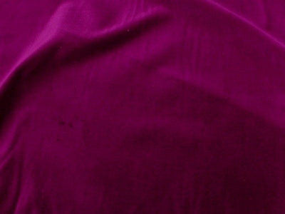 100% Cotton Med Weight Velvet PURPLE WINE