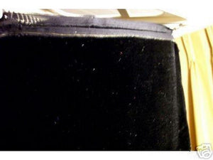 "Plush Silk Velvet 44"" Wide BLACK"