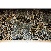 Velboa Animal Skins Fur Mixed Leopard