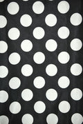 Polka Dot Charmeuse Satin BLACK WHITE SP-111