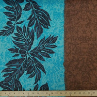 SWATCHES Grey/Brown Hawaiian Floral Prints