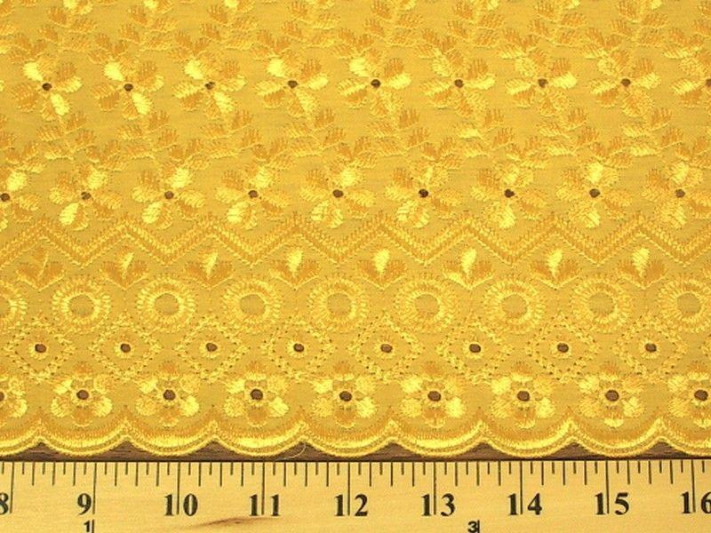 Eyelet Embroidery Yellow EL-11