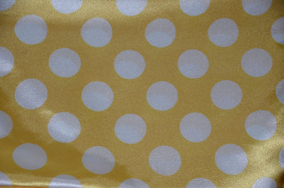 Polka Dot Charmeuse Satin YELLOW WHITE SP-106