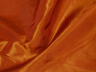 Two Tone Dress Taffeta Rust