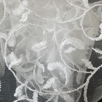 SWATCHES White Fancy Embroidery Mesh Lace