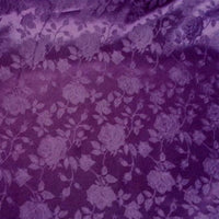 Floral Satin Brocade Plum
