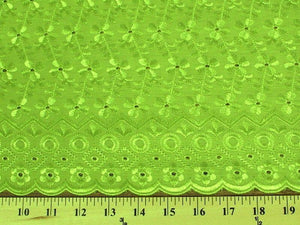 Eyelet Embroidery Lime EL-12