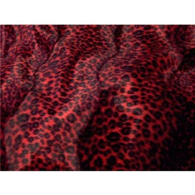 Velboa Animal Skins Fur Red Cheetah Leopard