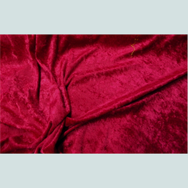 Crushed Panne Velour Velvet Dark Red