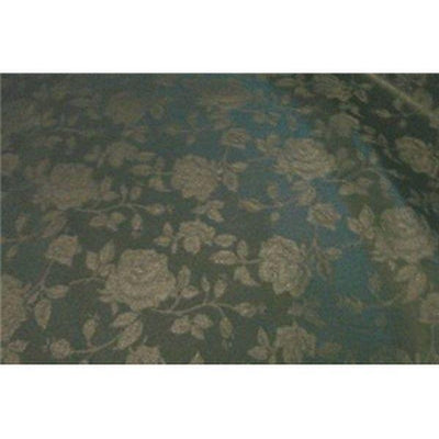 Floral Satin Brocade Hunter Green