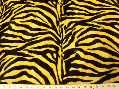 Velboa Large Yellow Black Zebra Prints
