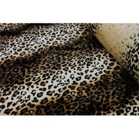 Velboa Animal Skins Fur Dark Brown Leopard