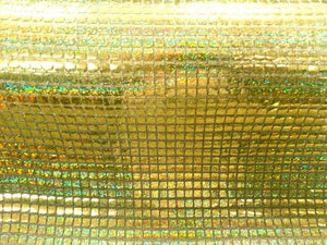 Hologram Square Sequins GOLD HS-6