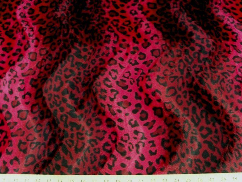 Velboa Animal Skins Fur Red Leopard