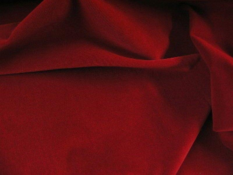 100% Cotton Med/Light Weight Velvet RED