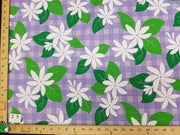 SWATCHES Purple Hawaiian Floral Prints