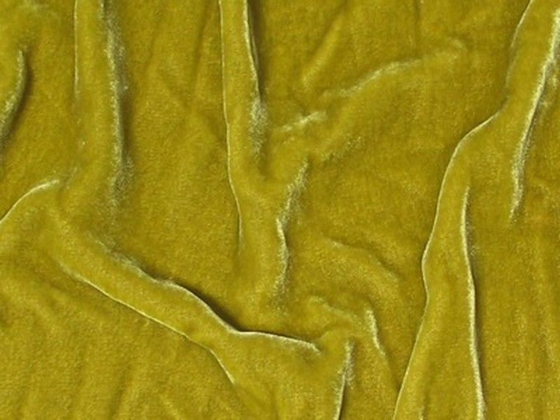 "Plush Silk Velvet 54"" Wide TARRAGON"