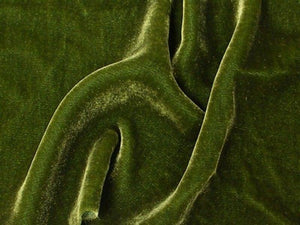 "Plush Silk Velvet 54"" Wide PINE GREEN"