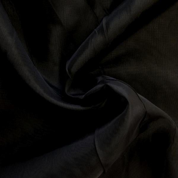 "Voile 120"" Wide Sheer Fire Retardant NFPA 701 Black VL-18"