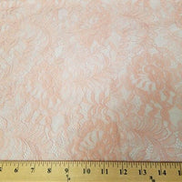 Floral Stretch Lace PEACH PINK SL-84