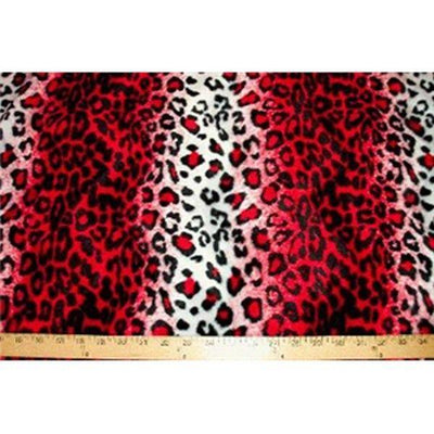 Velboa Animal Skins Fur Red Snow Leopard