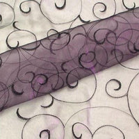 Embroidered Organza PLUM