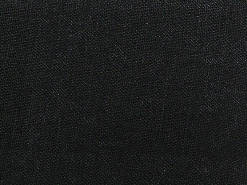 Stone Washed Linen BLACK L-10