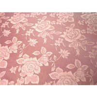 Floral Satin Brocade Medium Rose Pink