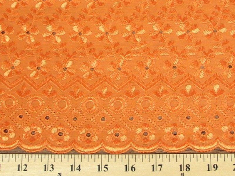 Eyelet Embroidery Orange EL-10
