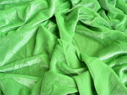 "Plush Silk Velvet 44"" Wide LIME GREEN"