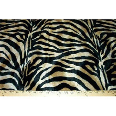 Velboa Large Tan Black Zebra Prints