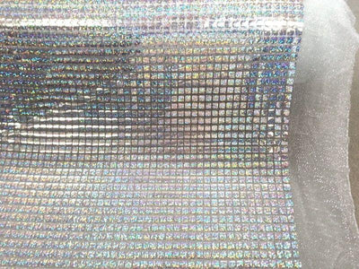 Hologram Square Sequins SILVER HS-7