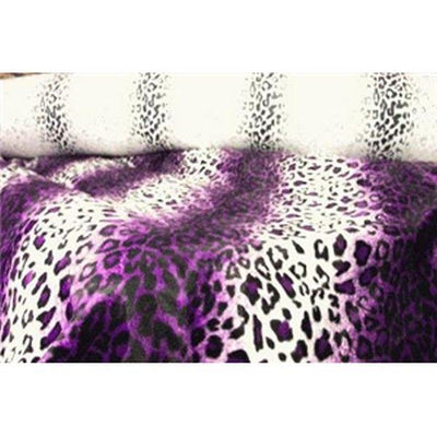 Velboa Animal Skins Fur Purple Leopard