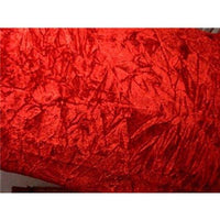 Crushed Non-Stretch Velvet RED