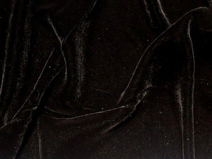 "Plush Silk Velvet 54"" Wide BLACK"