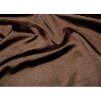 Bridal Satin DARK BROWN