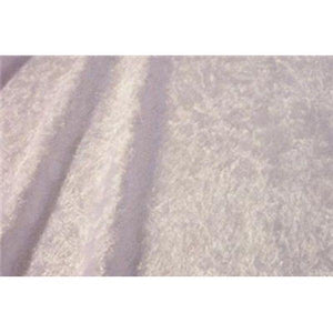 Crushed Panne Velour Velvet White