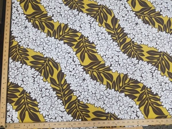 SWATCHES Yellow Hawaiian Floral Prints