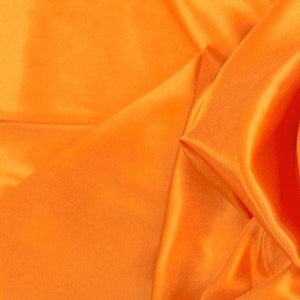 "China Faux Silk Habotai 58"" Wide Orange HB-22"