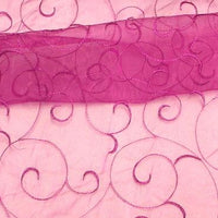 Embroidered Organza MAGENTA