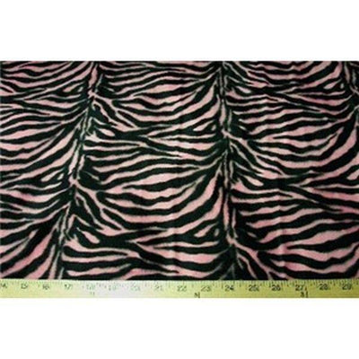 Velboa Small Pink Black Zebra Prints