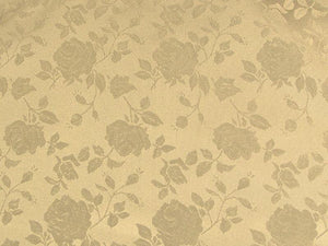 Floral Satin Brocade Champagne
